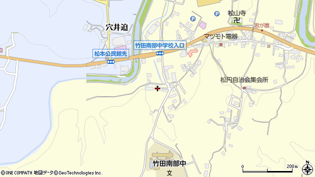 大分県竹田市君ケ園664周辺の地図