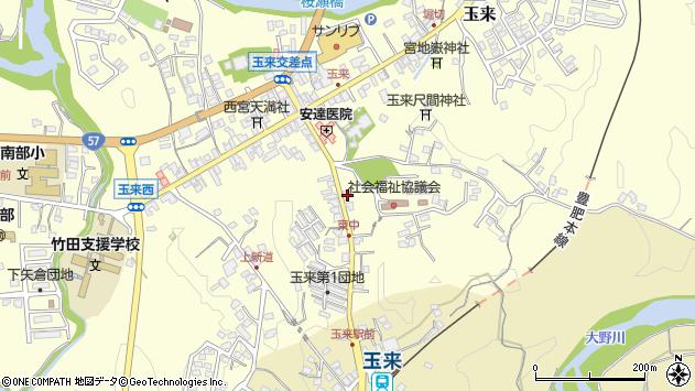 大分県竹田市玉来1258周辺の地図