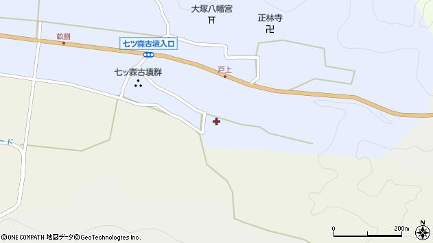 大分県竹田市戸上186周辺の地図