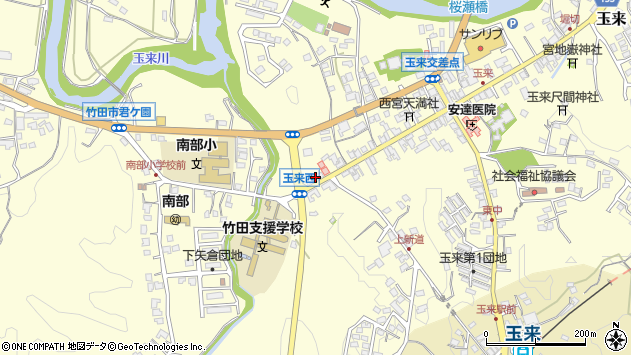大分県竹田市玉来865周辺の地図