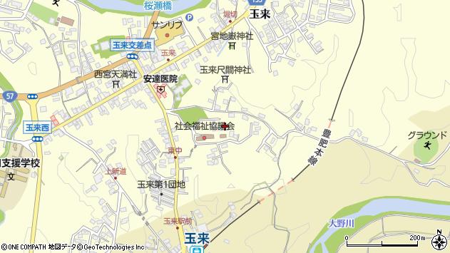 大分県竹田市玉来1344周辺の地図