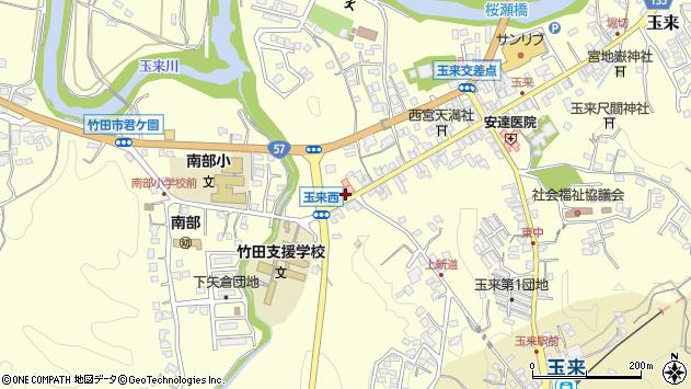 大分県竹田市玉来866周辺の地図