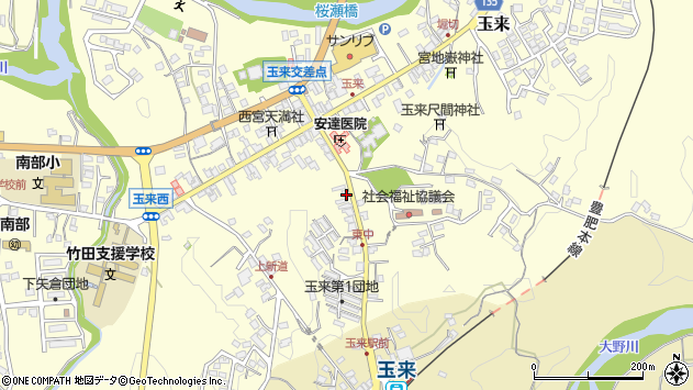 大分県竹田市玉来1251周辺の地図