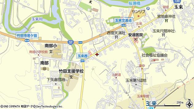 大分県竹田市玉来1035周辺の地図