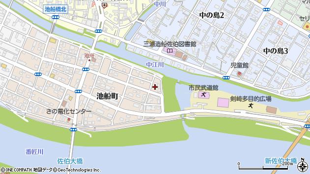大分県佐伯市池船町2周辺の地図