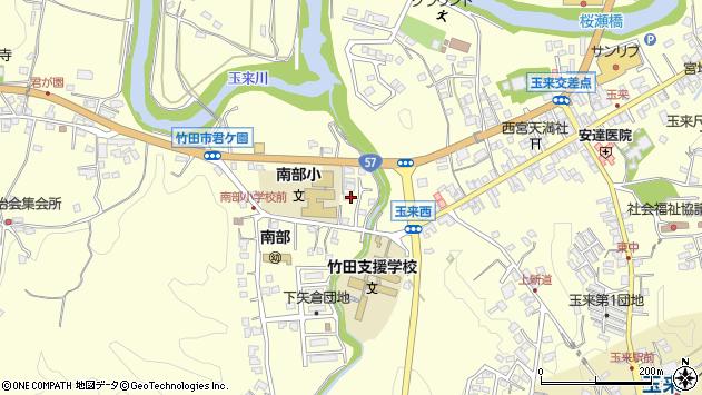 大分県竹田市君ケ園996周辺の地図