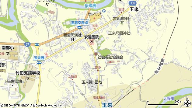 大分県竹田市玉来1256周辺の地図
