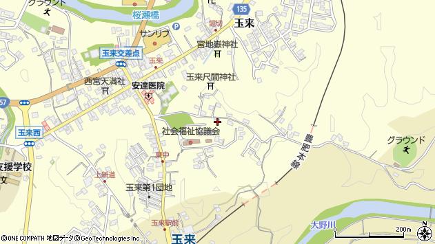 大分県竹田市玉来1396周辺の地図