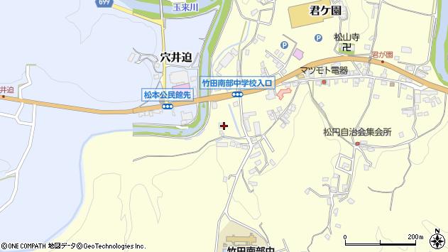 大分県竹田市君ケ園648周辺の地図