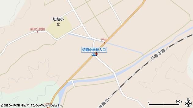 大分県佐伯市弥生大字門田周辺の地図