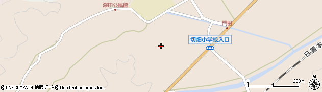 大分県佐伯市弥生大字門田1777周辺の地図