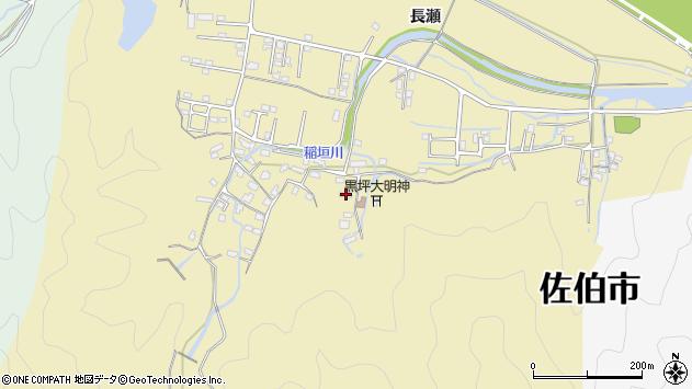 大分県佐伯市稲垣1332周辺の地図