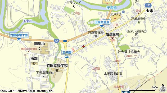 大分県竹田市玉来873周辺の地図