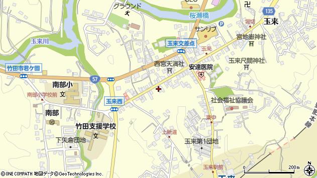 大分県竹田市玉来1020周辺の地図