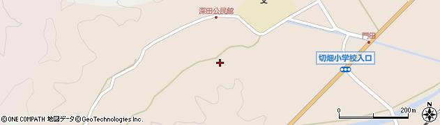 大分県佐伯市弥生大字門田深田周辺の地図