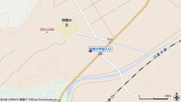 大分県佐伯市弥生大字門田882周辺の地図