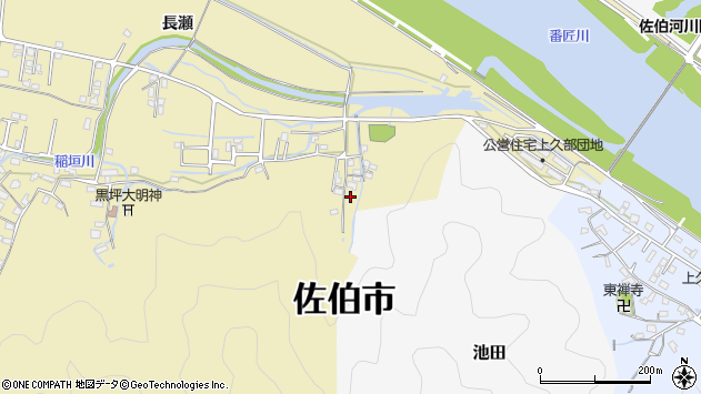 大分県佐伯市稲垣2060周辺の地図