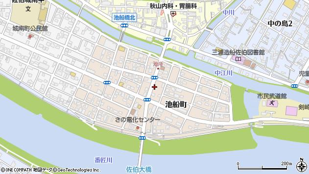 大分県佐伯市池船町周辺の地図