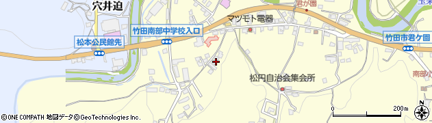 大分県竹田市君ケ園719周辺の地図