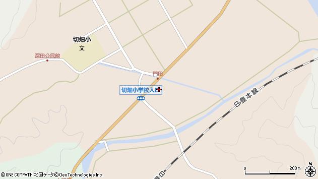 大分県佐伯市弥生大字門田823周辺の地図
