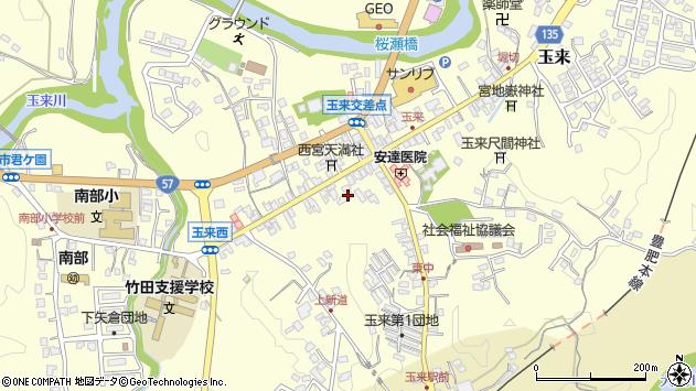 大分県竹田市玉来994周辺の地図