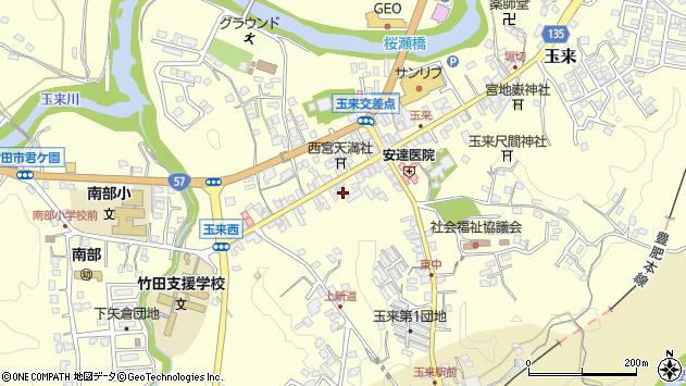 大分県竹田市玉来999周辺の地図