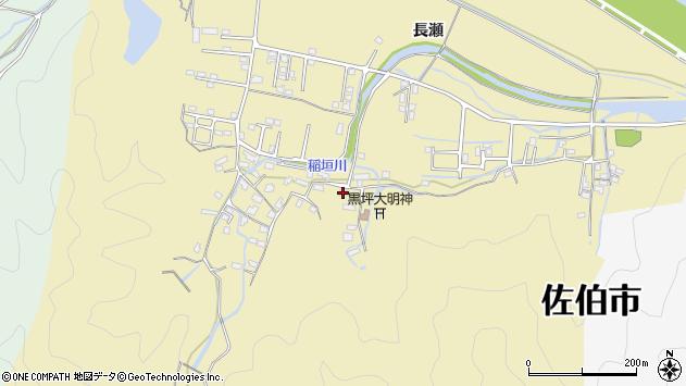 大分県佐伯市稲垣1338周辺の地図