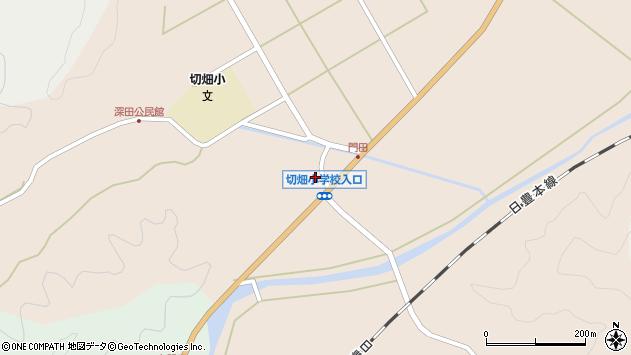 大分県佐伯市弥生大字門田892周辺の地図
