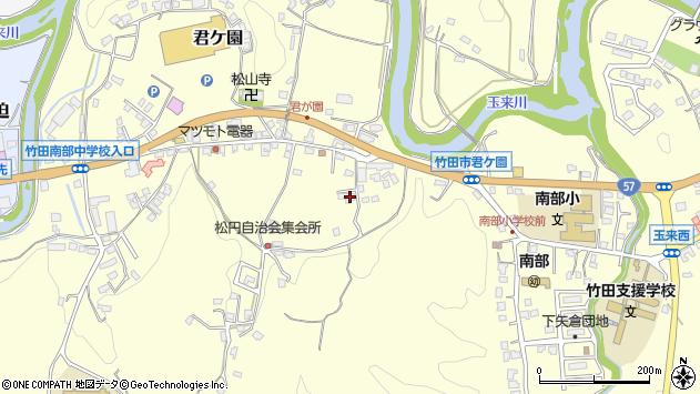大分県竹田市君ケ園923周辺の地図