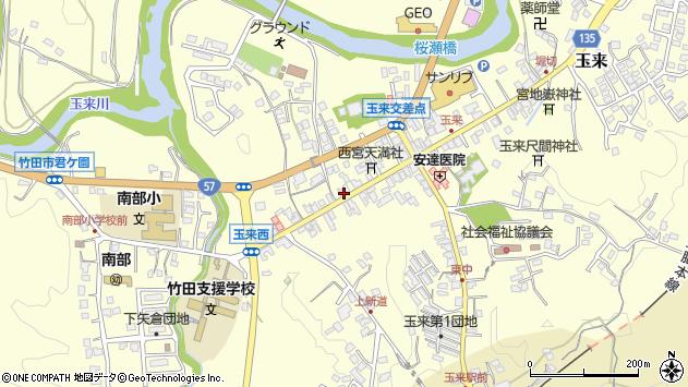 大分県竹田市玉来882周辺の地図