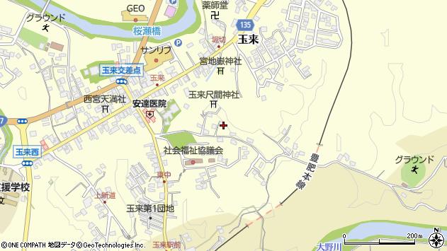 大分県竹田市玉来1337周辺の地図