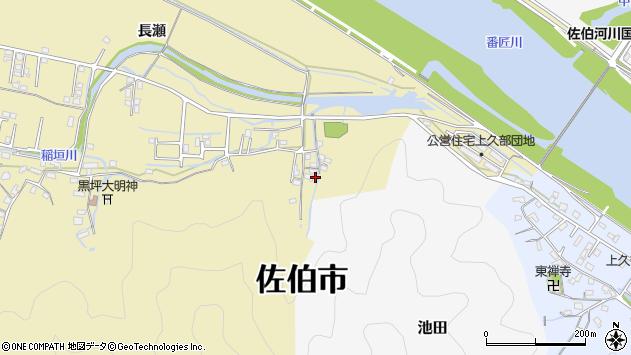 大分県佐伯市稲垣2066周辺の地図