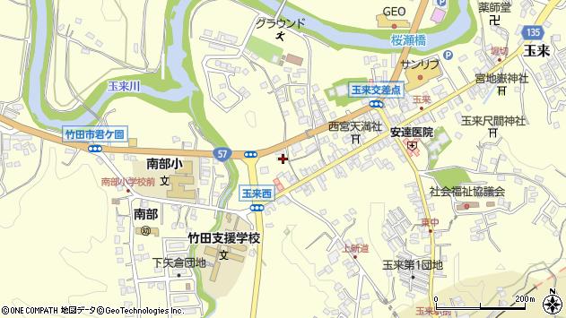 大分県竹田市玉来786周辺の地図