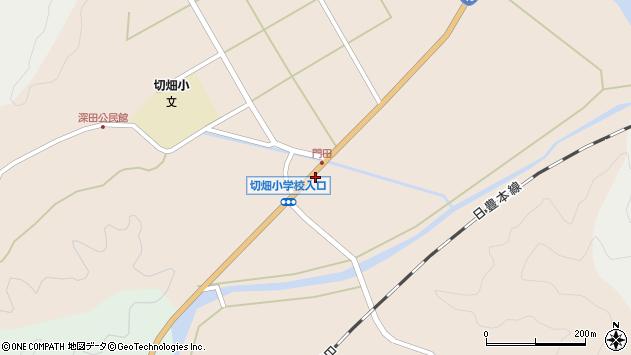 大分県佐伯市弥生大字門田752周辺の地図