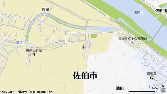 大分県佐伯市稲垣2022周辺の地図