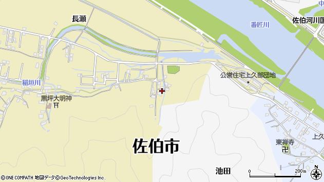 大分県佐伯市稲垣2068周辺の地図