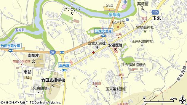 大分県竹田市玉来886周辺の地図