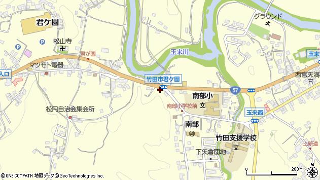 大分県竹田市君ケ園965周辺の地図