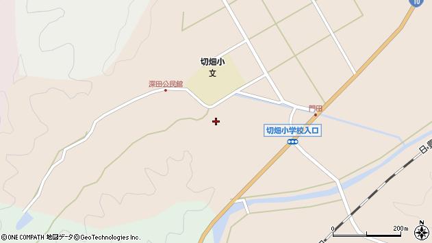 大分県佐伯市弥生大字門田1796周辺の地図