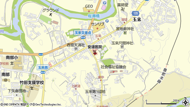 大分県竹田市玉来978周辺の地図