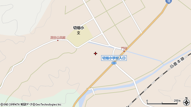 大分県佐伯市弥生大字門田1766周辺の地図