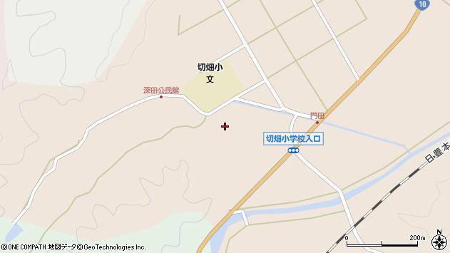 大分県佐伯市弥生大字門田1770周辺の地図