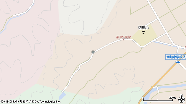 大分県佐伯市弥生大字門田1996周辺の地図