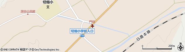 大分県佐伯市弥生大字門田824周辺の地図