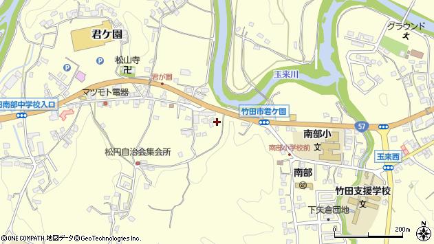 大分県竹田市君ケ園921周辺の地図