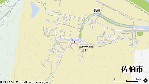大分県佐伯市稲垣1351周辺の地図