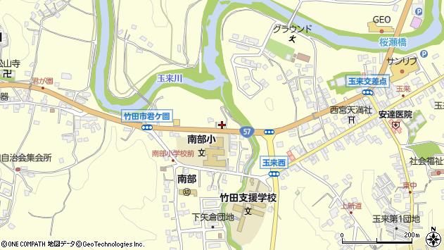 大分県竹田市君ケ園1004周辺の地図