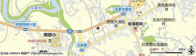 大分県竹田市玉来火振周辺の地図