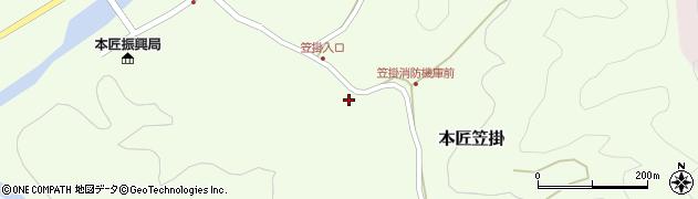 大分県佐伯市本匠大字笠掛249周辺の地図