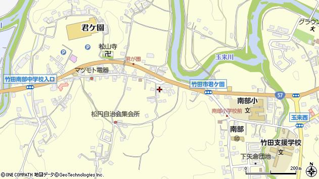 大分県竹田市君ケ園920周辺の地図